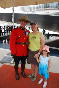 Mountie at Candian pavillion