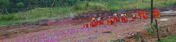 Fireworks debris