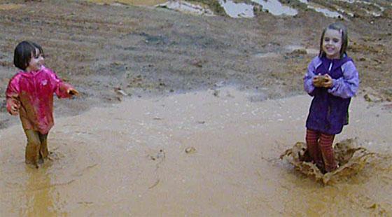 puddle-splashing
