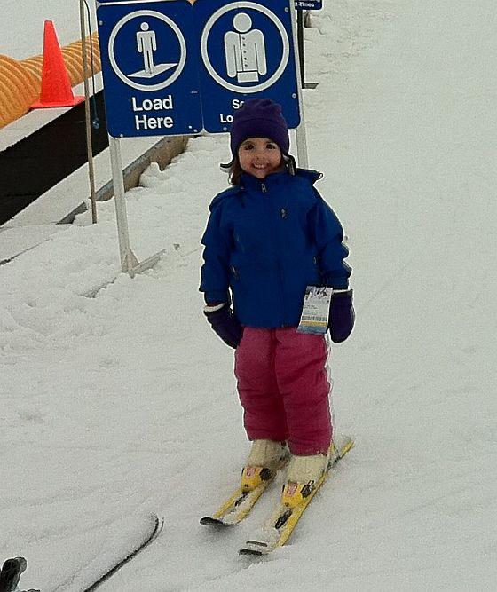 Maddie skis